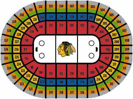 United Center Arena Der Blackhawks